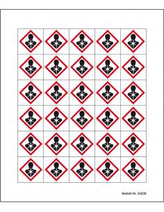 Minisymbool GHS08 'gezondheidsgevaar', sticker