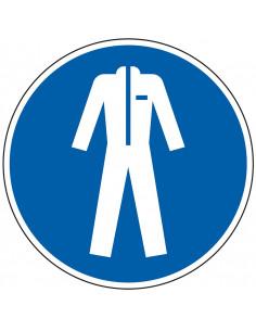 Gebodsbord 'Beschermende kleding verplicht', ISO 7010