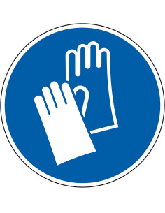 Gebodsbord 'Veiligheidshandschoenen dragen', ISO 7010