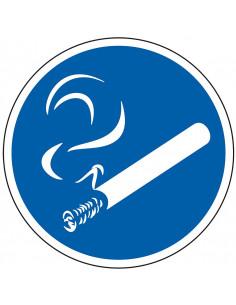Gebodsbord 'Roken toegestaan'