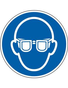 Vloermarkeringspictogram R9 'Oogbescherming verplicht'