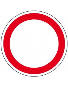 Vloermarkeringspictogram R9 'Verboden voor alle voertuigen'