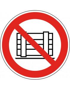 Vloermarkeringspictogram R9 'Plaatsen en/of opslaan verboden'