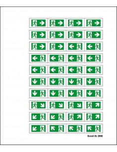 Mini symbolen vluchtwegaanduiding
