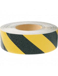 Anti slip gevarentape zwart/geel, 18,3 meter