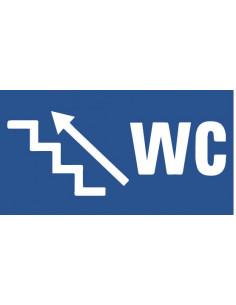 Wc deur sticker trap links omhoog
