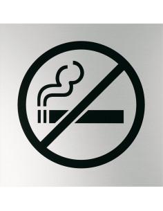 Bord 'Roken verboden', matzilver aluminium geanodiseerd, verbodspictogram