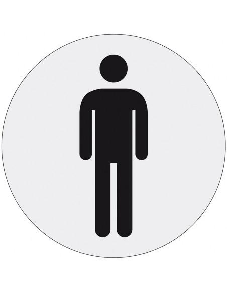 WC deur sticker heren, polyesterfolie