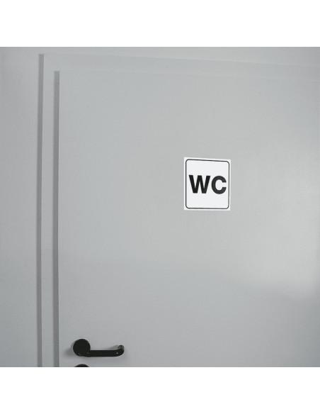 WC deur sticker standaardpictogram WC, zelfklevende folie