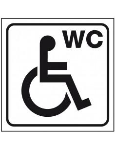 WC deur sticker voor gehandicapten