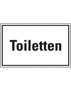 WC deur sticker ''Toiletten'', zelfklevende folie (sticker)