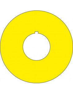 Noodstop sticker blanco, om zelf te beschrijven, geel, met gat