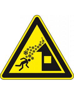 Waarschuwingsbord 'Daklawine gevaar', ISO 7010, SL 300mm