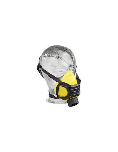 EKASTU Halfmasker Polimask ALFA/Silikone, met ronde draag filteraansluiting, 140g