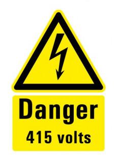 "Gevaarsticker ""Danger Volts"" 150 x 100 mm"