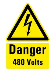"Gevaarsticker ""Danger 415 Volts"" 150 x 100 mm"