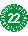 Keuringssticker met jaartal (anti-fraude dambordpatroon), vel