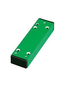 Distanzstuks, voor Panikstangen, 30 mm Versatz, groen RAL 6029, staal, 52x175x30 mm