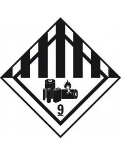 (2019) ADR sticker klasse 9 'Diverse gevaarlijke stoffen' papier op rol (1000 stuks)