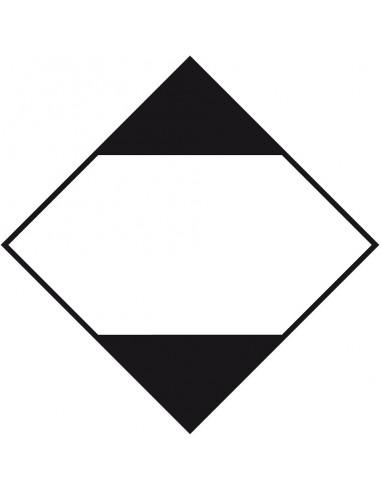 ADR sticker beperkte hoeveelheden, zeewaterbestendig, zwart wit, ruit