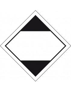 ADR sticker beperkte hoeveelheden, reflecterende rand, zeewaterbestendig, zwart wit, ruit