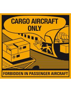 ADR Sticker 'Cargo Aircraft only' papier