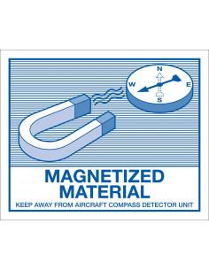Verpakkingetiket 'Magnetische materialen' folie