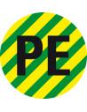 Sticker 'Beschermende geleider PE' op rol (500 stuks)