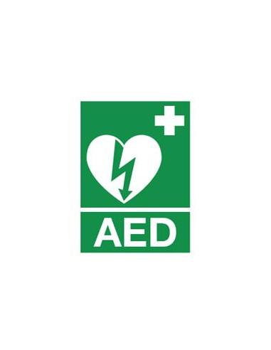 Bord met tekst 'AED' kunststof 200 x 150 mm