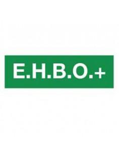 "Tekststicker eerste hulp ""E.H.B.O."""