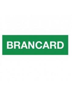 """Tekststicker eerste hulp """"Brancard"""""""