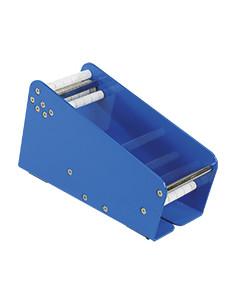 Tafel-Etikettendispenser, blauw, staal, breedte 75 mm