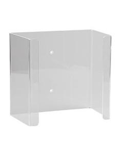 Uvex wandhouder voor gehoorbeschermingbox, transparant, Plexiglas, 320g
