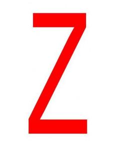 Letter 'Z' sticker rood 70 mm