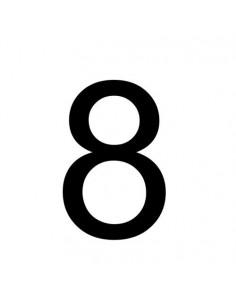 ADR cijfer 8 sticker, wit zwart