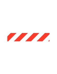 Markeringstape rood/wit 50 mm (10 meter op rol)