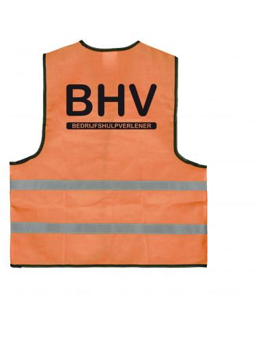 BHV hesje oranje 'BHV' (bedrijfshulpverlener)