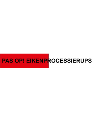 Bekend Afzetlint rood/wit 'Pas op! Eikenprocessierups' 500 meter - ESVSHOP.nl WB93