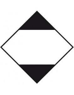 ADR sticker beperkte hoeveelheden, ruit, wit zwart