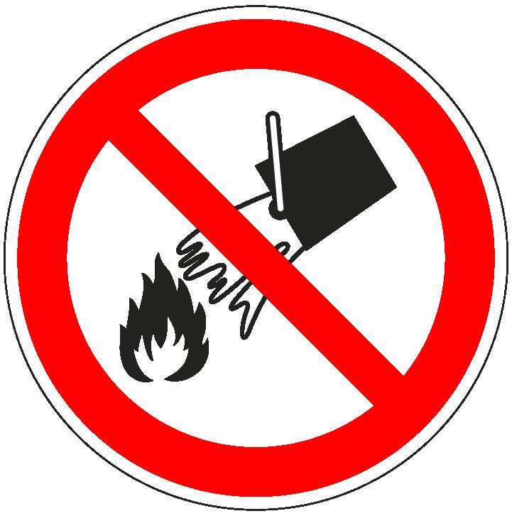 pictogram verboden met water te blussen, rood wit, rond, ISO 7010, P011